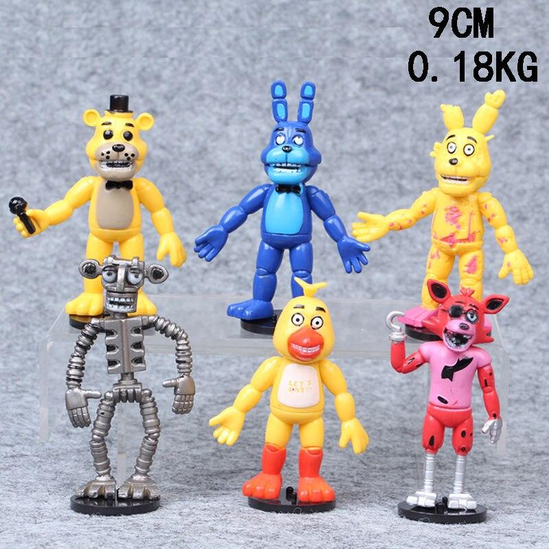 6pcs Five Nights at Freddy's FNAF Game Action Figures Doll Kids Children Toy Set
