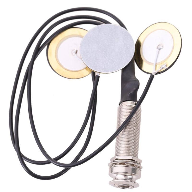 Piezo Contact Microphone 3 Transducer Pickups with <font><b>end</b></font> <font><b>pin</b></font> <font><b>jack</b></font> for Kalimba #8 image