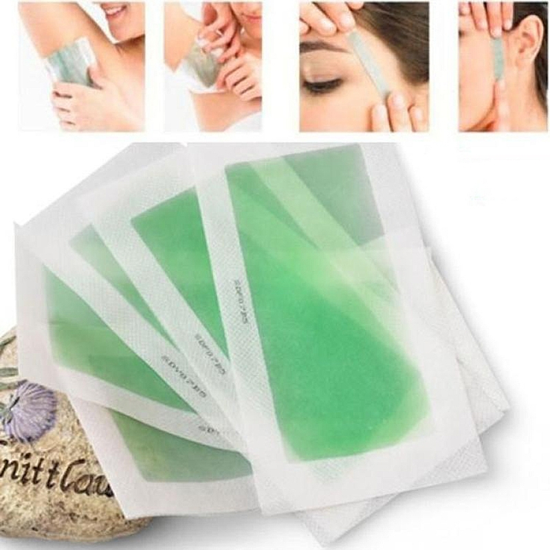 10pcs Portable Painless Hair Removal Depilatory Epilator Cold Wax Strips Paper Pad For Face Nonwoven Hot!