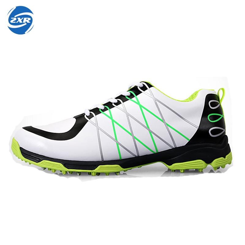 men super light microfiber leather waterproof comfortable good grip male sport shoes breathable anti-skid patent golf shoes цена