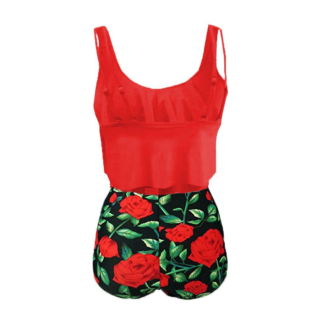 Women's Swimming Suit 2019 Sexy Bikini Swimsuit Women Two Piece Plus Size Sexy Backless Halter Dot Printed Swimwear Set