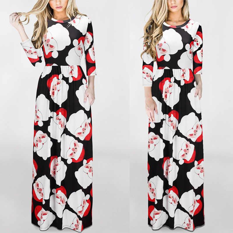 63f1450c83f2 ... Семья Одинаковая одежда рождественское платье для мамы и дочки Платья  для женщин Мама Дети для маленьких ...