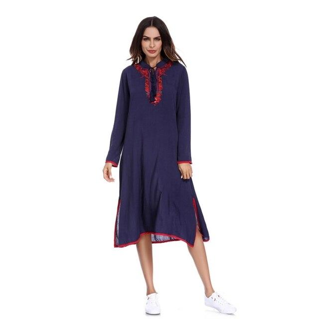 b55c060116 New Fashion Muslim Dress Women Middle East Abaya Dress 2018 Loose Style  Muslim Moroccan Burka Kimono Kaftan Islamic Dress W1