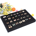 Free Shipping Organizer Showcase Jewelry Display Earring Holder Box New Black Velvet Stud Earring Storage Ear Pin Display Box