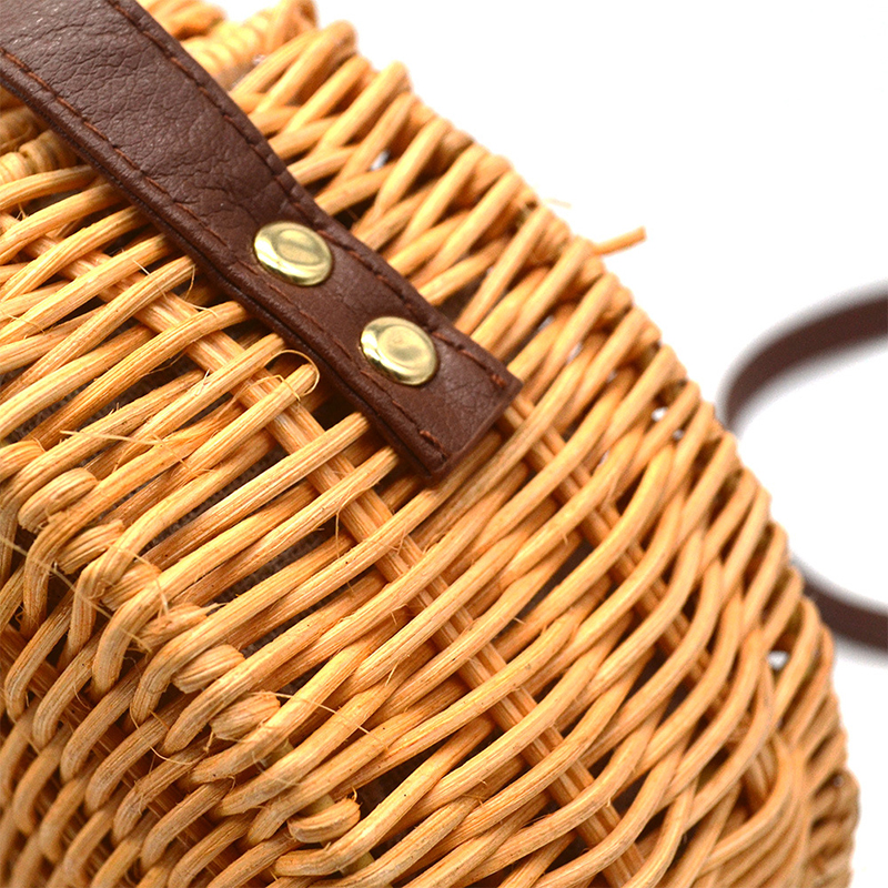 Cover Bamboo Female Rattan Straw Bag Woman Handbag Bolso Mimbre 45 3