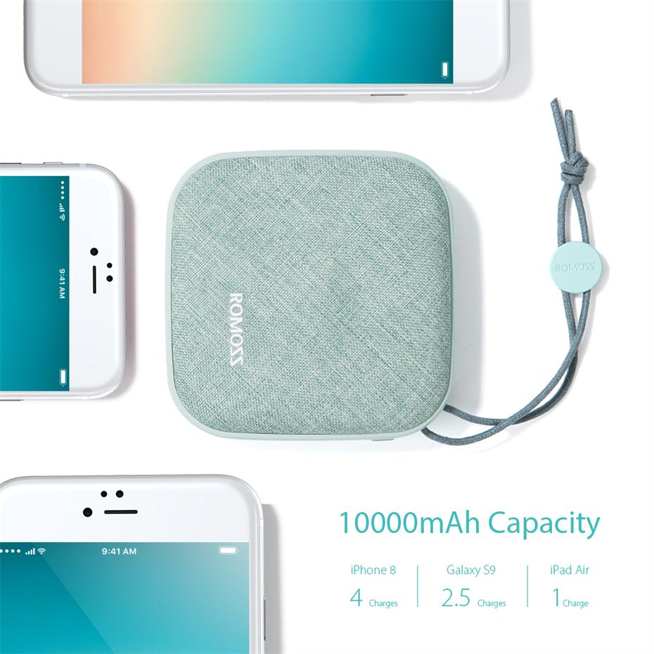 Romoss Candybox Power Bank  Green Color 3