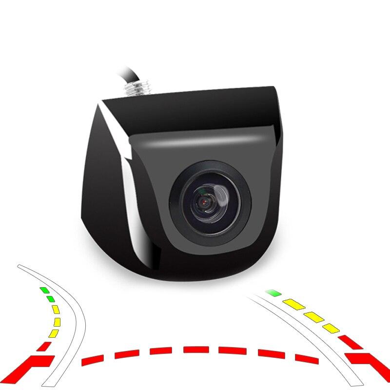 HD Real 170 grados ángulo ojo de pez lente dinámica trayectoria aparcamiento línea vista trasera de coche cámara de respaldo de marcha atrás para Monitor de coche HD 4K Mini WiFi IP Cámara Full HD DIY Mini cámara módulo soporte inalámbrico Hotspot detección de movimiento soporte de Vista Remota tarjeta TF