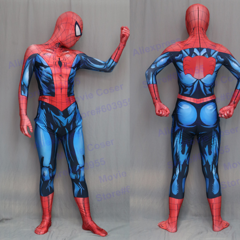ultimate spiderman costume 3d shade spandex cosplay