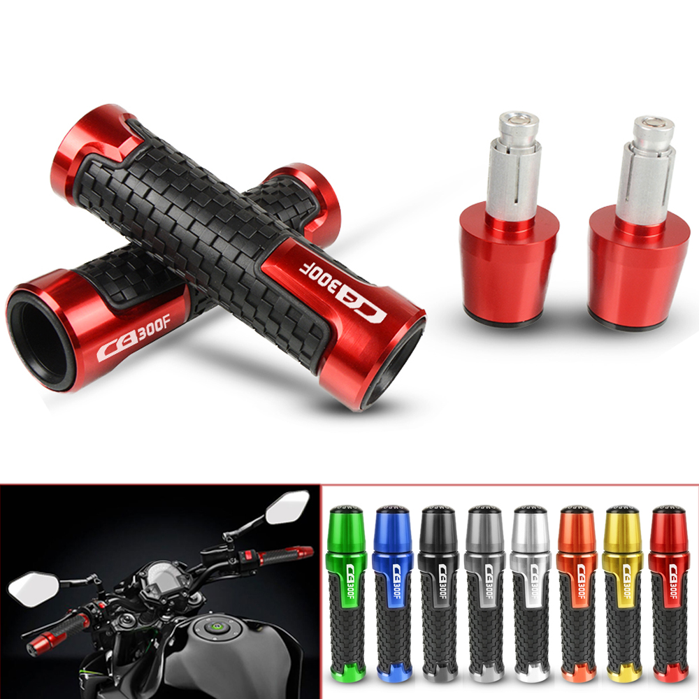 Motorcycle CNC Aluminum Handlebar Grip Moto Grips With Ends Slider Cap Plug For Honda CB300F CB 300F CB300 F 2014-2018 2015 2016