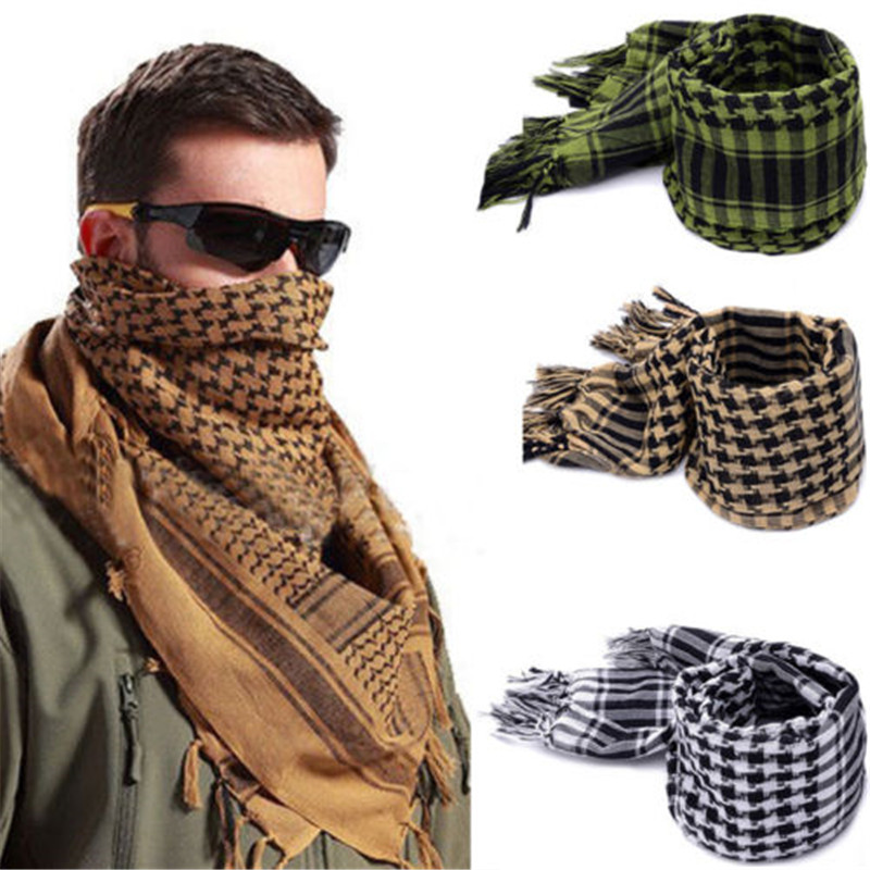 Considerate Hot Men Winter Military Windproof Scarf Muslim Hijab Shemagh Tactical Desert Arab Scarves Keffiyeh Cotton Fashion Scarves Reasonable Price Apparel Accessories