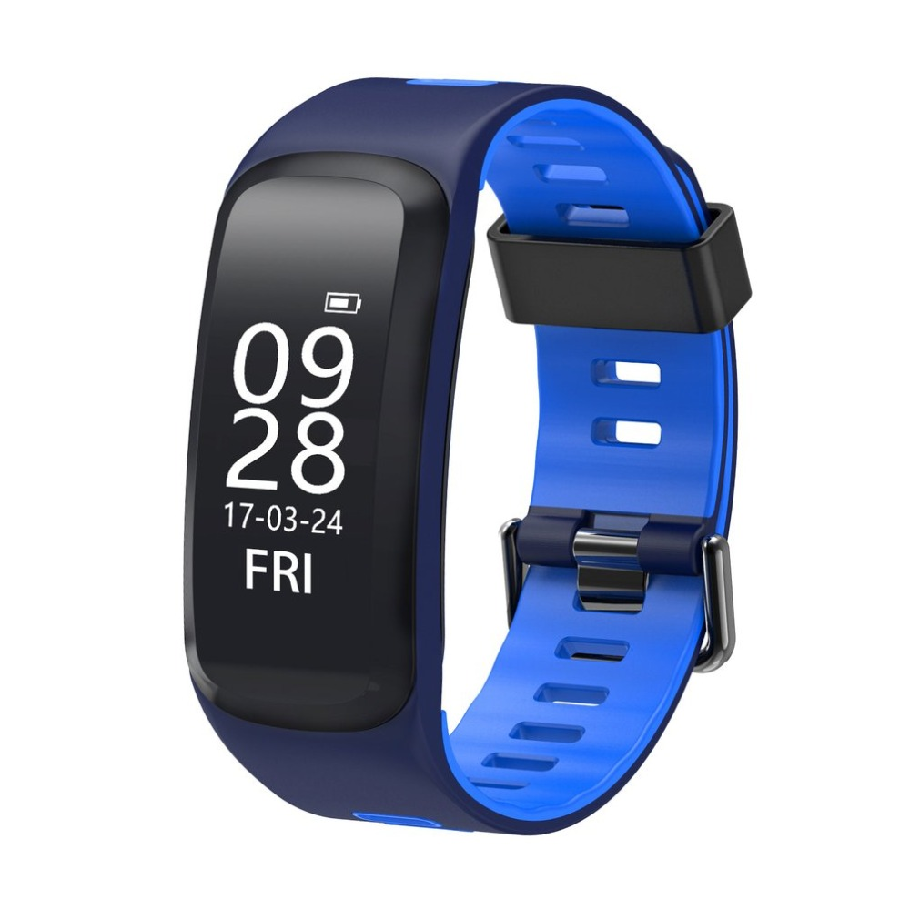 No.1 F4 Smart Bracelet IP68 Bluetooth Heart Rate Blood Pressure Blood Oxygen Sport Track Smart Wristband For Android iOS Phone