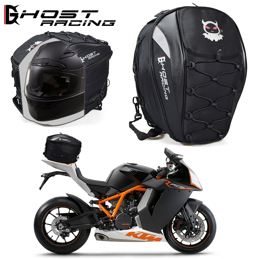купить GHOST RACING The Motorcycle Tail Bags Back Seat Bags Kit Travel Bag Motorbike Scooter Sport Luggage Rear Seat Rider Bag Pack по цене 3032.01 рублей