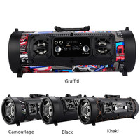 Portable Outdoor Bluetooth Wireless Support TF Card USB AUX Radio Surround Sound Speaekr With Microphone LED
