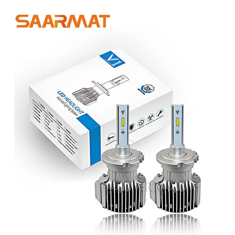 Pair D1 D2 D3 D4 Headlight W Flip Chips 10800LM LED Head Lamp Fog Light Kit