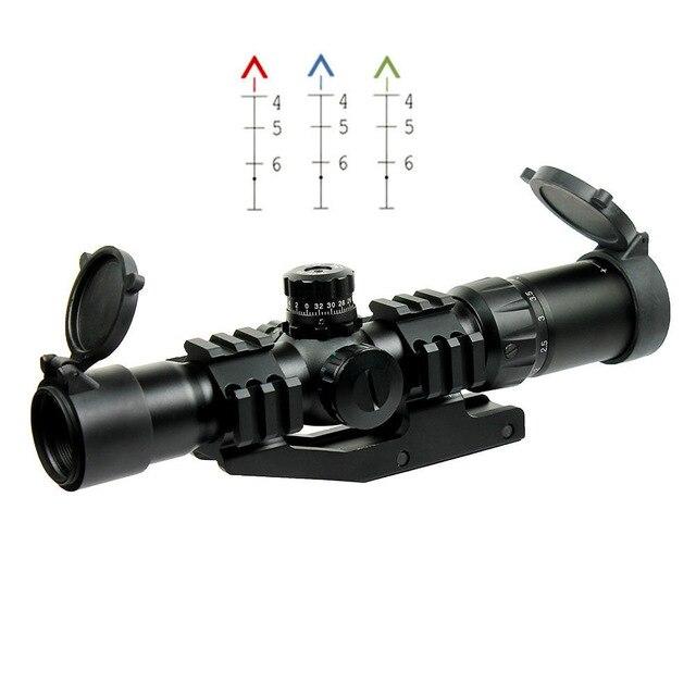 Free Shipping Outdoor Hunting Air soft 1.5-4X30 Tactical Rifle Scope w/ Tri-Illuminated Chevron Recticle & PEPR Mount воск beauty image воск в кассетах зефир 145 гр