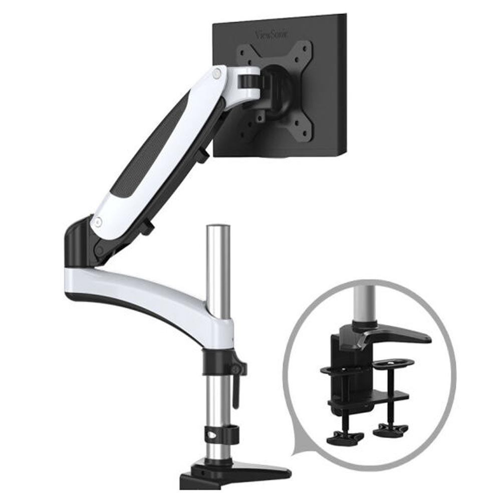 HONGHUA 15-27 Full Motion Gas Spring Computer Desktop Clamping LCD LED Monitor Holder Arm Mount Bracket Loading 9-20kgs full motion lcd monitor holder computer display mount bracket fit for w o vesa display aoe apple samsung all in one computer