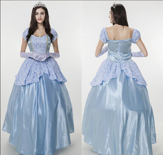 Liebenswert Sissi Princess Dress Snow White Costume Halloween Party Elegant Noble Blue  Gown Medieval Adult Fairy Cosplay .