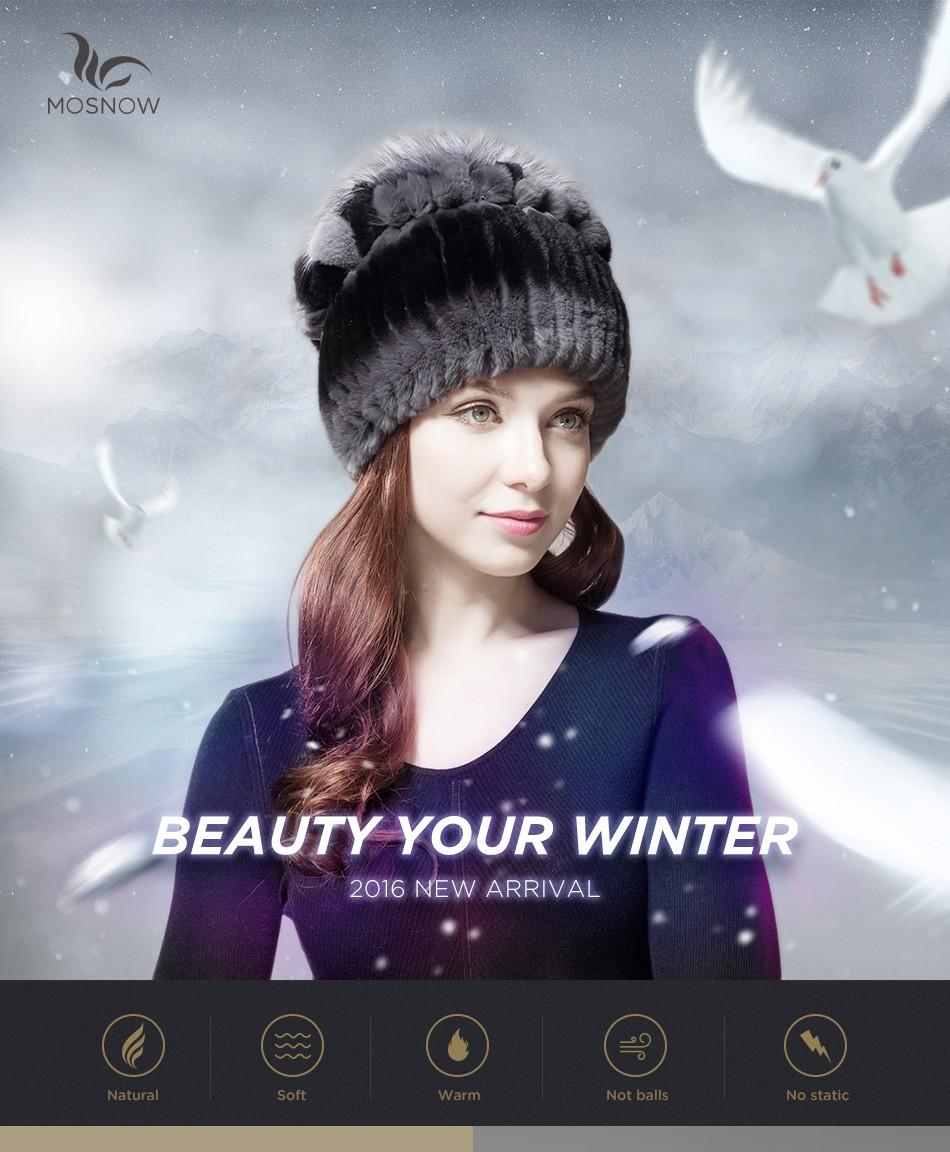 mink fur winter hats for women PCM028 (1)