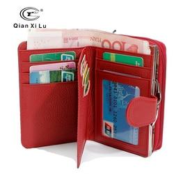 Qianxilu 2017 new genuine leather coin purse wallet high capacity fashion dollar price card holder female.jpg 250x250