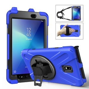 For Samsung Galaxy Tab Active 2 8.0 SM-T390 / SM-T395 Case, Kickstand & Rotating Kids Protective Cover with Pencil Holder Shell