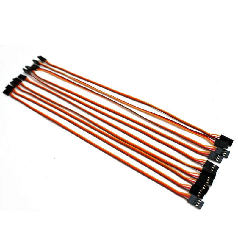 10 sztuk/partia 300mm 10cm15cm/30 cm/60 cm 26AWG RC servo przedłużacz przewód zasilający kabel do Futaba JR męski na żeński wtyk kable okablowania