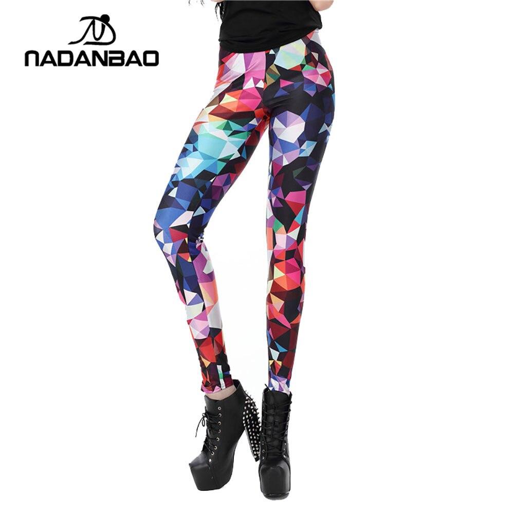 NADANBAO Femmes leggings Géométrique Boho Art Imprimé leggins Fille leggins Sexy Mince Femmes Pantalon