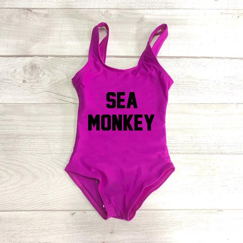 d79854df8b0 SEA MONKEY Girls Swimwear One Pieces Swimsuit Kids Swimming Suit ...