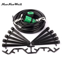 NuoNuoWell Micro Drip Irrigation System Kit 10 Dripper and 10 meter 4/7