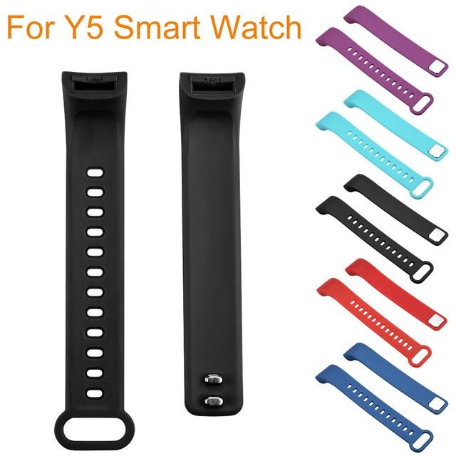 Los dispositivos de vestir nuevo peso ligero de ventilar deporte suave pulsera correa de muñeca para Y5 reloj inteligente envío de la gota