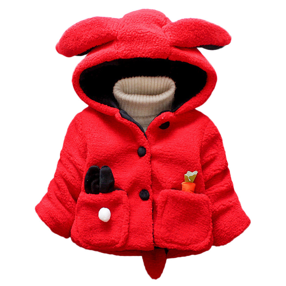 Hoodie Coat Manteau Ear-Parka Toddler Baby-Boy-Girl Winter Kids Warm Rabbit Cartoon Menina-10