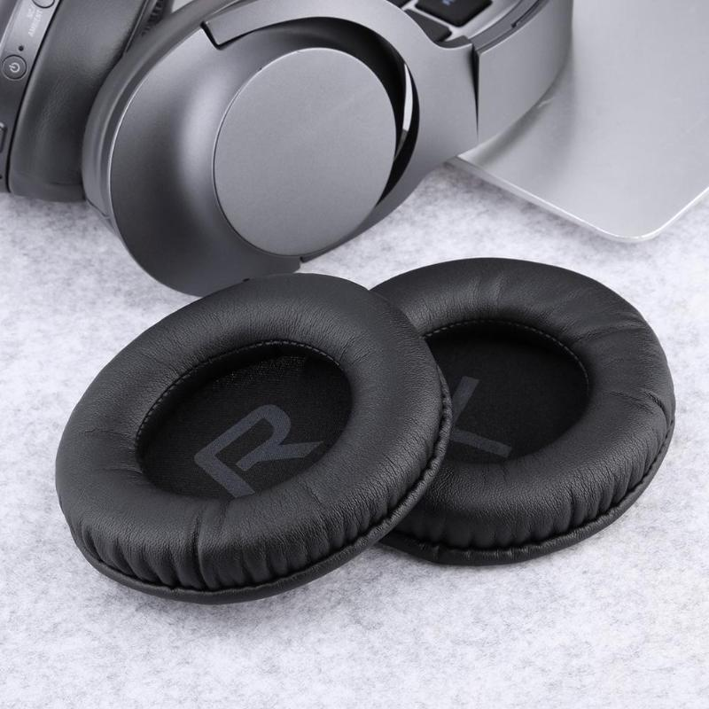 2Pcs <font><b>Replacement</b></font> <font><b>95mm</b></font> Earpads <font><b>Ear</b></font> <font><b>Pad</b></font> Cushion Cover for Sony MDR-DS7000 MDR-RF6300 Headphones Headset image
