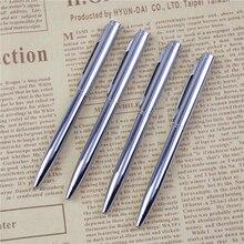 1 шт. мини металлическая прочная шариковая ручка Вращающаяся ручка карманного размера портативная шариковая ручка маленькая масляная ручка изысканный инструмент для письма