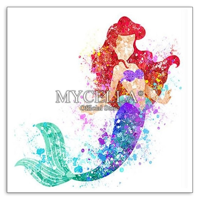 Cartoon Diamond Painting Kit Little Mermaid Ariel Diamond Embroidery Cross  Stitch DIY Rhinestone Mosaic Full Square Wall Decor 0f7b4340d4bb