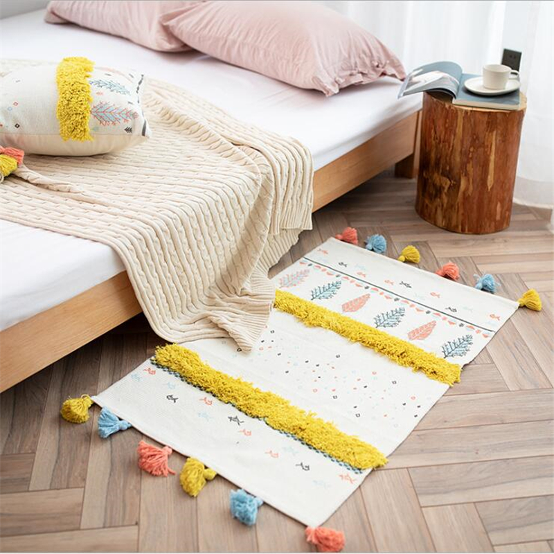 Soft Nordic Style Cotton Carpets For Living Room Bedroom Kid Room Rugs Home Carpet Floor Door Mat Decorate House Table Area RugSoft Nordic Style Cotton Carpets For Living Room Bedroom Kid Room Rugs Home Carpet Floor Door Mat Decorate House Table Area Rug
