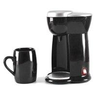 Мини-кофемашина с одной чашкой, эспрессо, домашняя электрическая автоматическая кофемашина (штепсельная Вилка европейского стандарта)