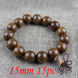 Image 4 - Yanqi 6 20mm wood sandalwood prayer beads elastic bracelet men jewelry Authentic African Buddha wood bead bracelet beads