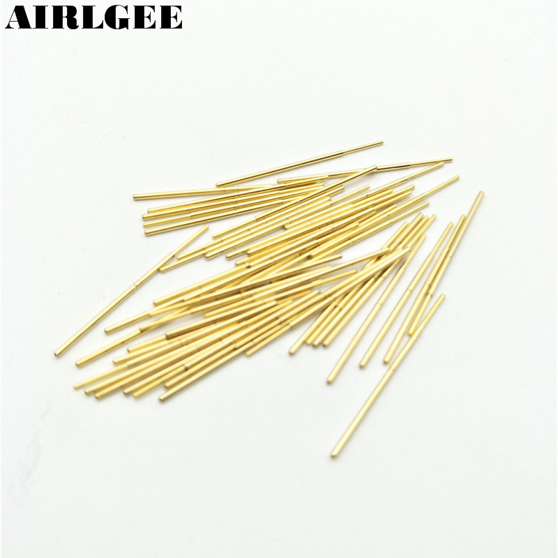 цена на 50 Pieces PL75-J 0.76mm Spherical Tip Spring PCB Testing Contact Probes Pin Free shipping