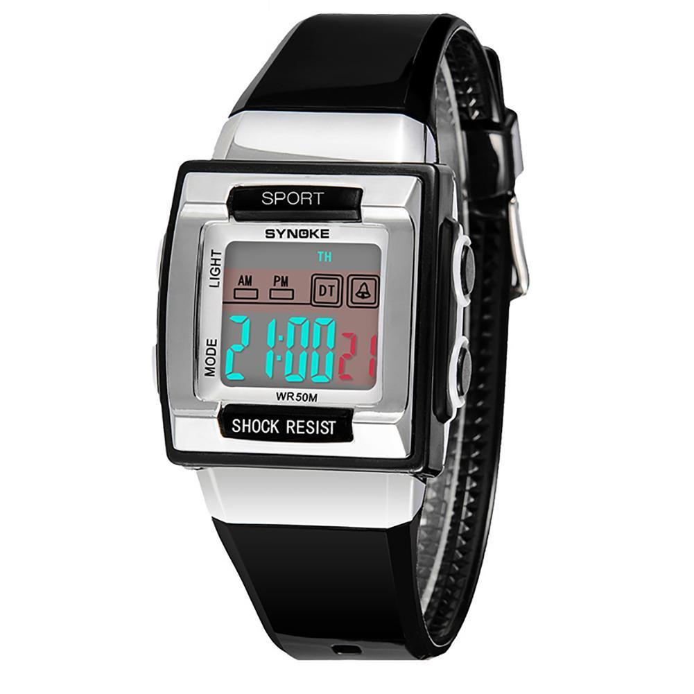 Chic Sports Student Pupil Boy Girl Alarm Week Date Children Electronics Display Digital Wrist Watch Relojes
