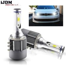 Автомобильная светодиодная лампа iJDM H15, 24 Вт, 6500 лм, беспроводная лампа для автомобильных фар, 12 В, конверсионная лампа для вождения, К, белая, для VW, Audi, BMW
