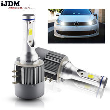 iJDM Car H15 LED Bulb Headligh 24W 2000LM Wireless Car Headlight Lamp 12V Conversion Driving Light 6500K White For VW Audi BMW(China)