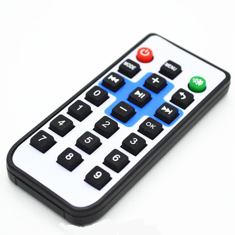21-Key Silicone Button IR 38KHz Remote Control Wireless Controller Transmission Distance 8 meters UDP6122 For Device v108 ir remote receive module 2 key remote controller black silver