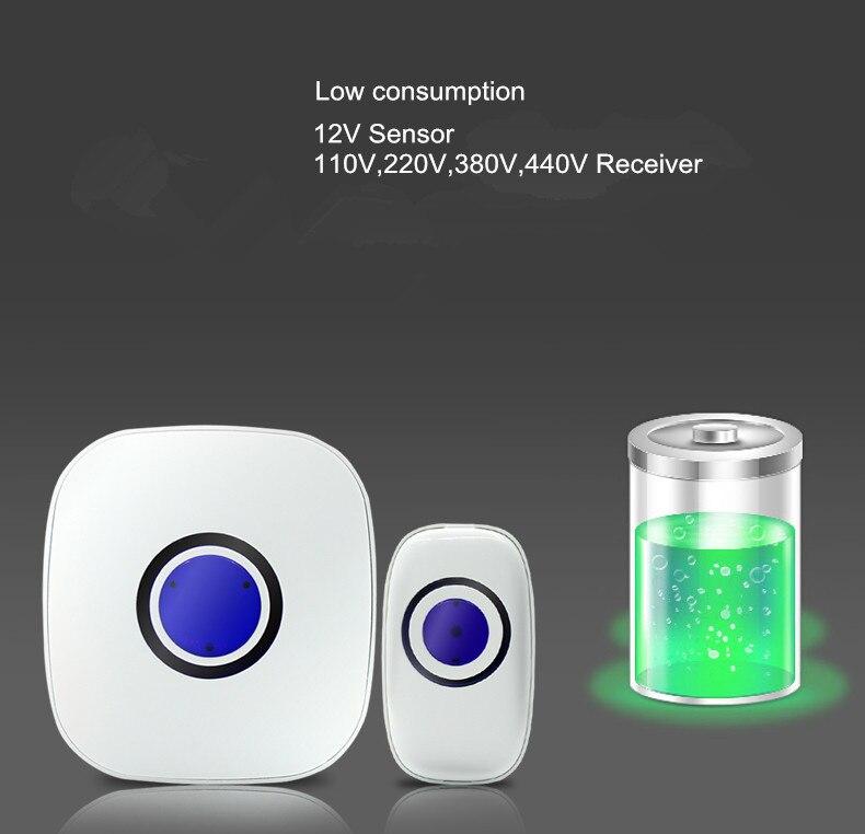 AC 220 В 50 Гц/60 Гц Подключите типа IP65 Беспроводной дверной звонок для безопасности дома с низким потреблением И по низкой цене