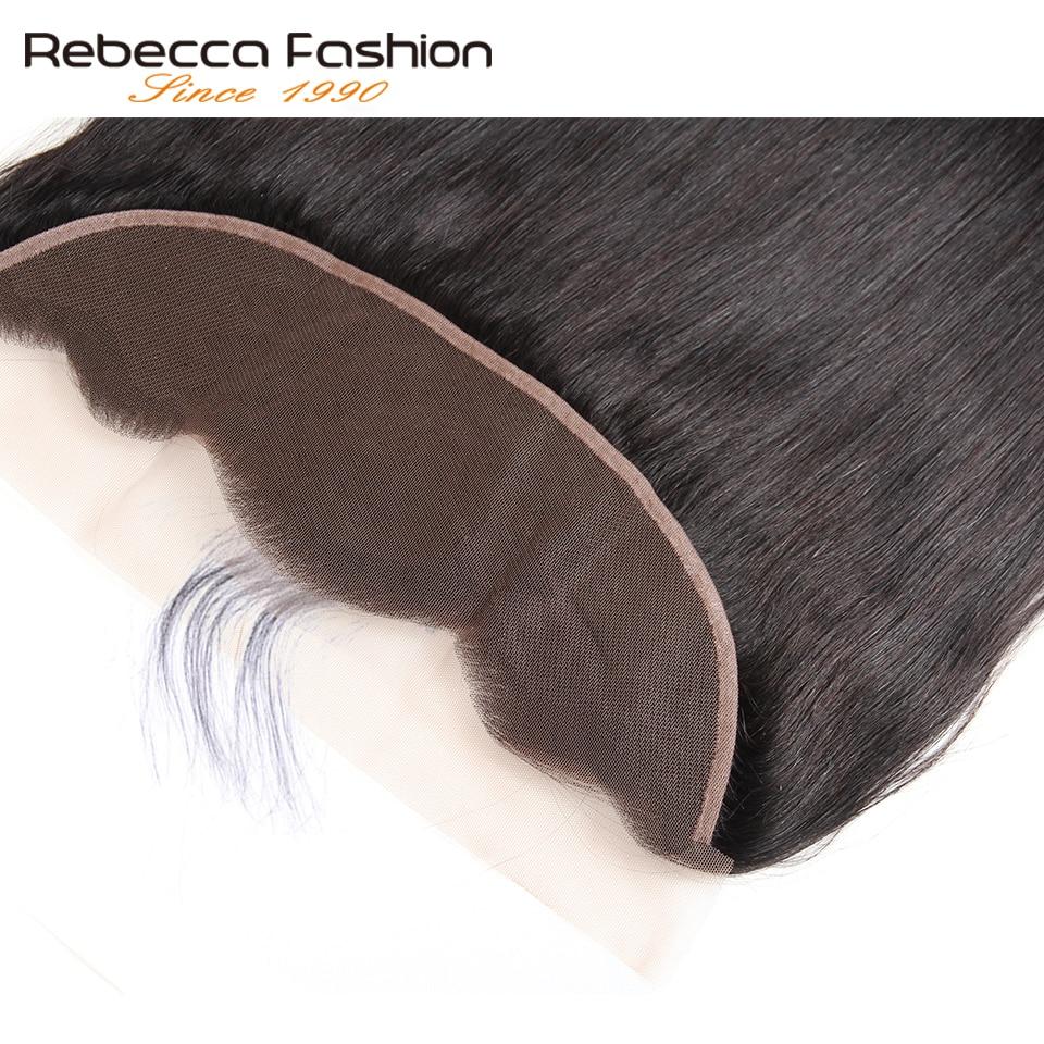 Rebecca malasia pelo liso 3 paquetes con frontales no Remy pelo - Equipos para peluquerías - foto 4