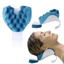 Almohada de relajación de cuello y hombro para alivio ortopédico de cuello y soporte de hombro columna superior pérdida de dolor masaje de tracción
