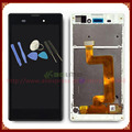 Полный ЖК-Дисплей С Сенсорным Экраном Дигитайзер Для Sony Xperia T3 m50w с Рамкой Черный/Белый + Инструменты Бесплатная Доставка