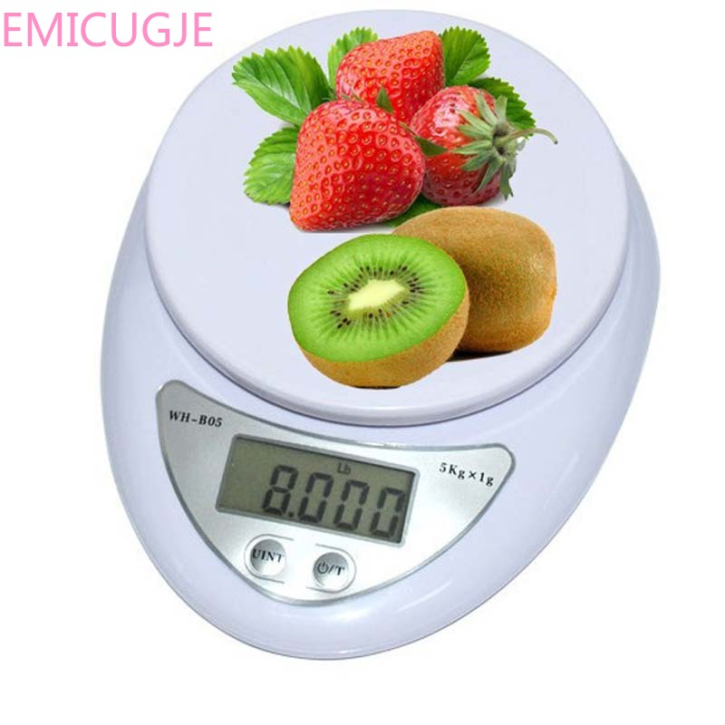 Electronic Scale Weighting LED Electronic Scale 5kg*1g Precision Digital Scale Kitchen Food Diet Postal Scales Balance Weight