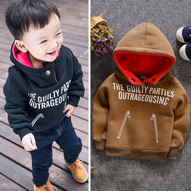 New hoodies kids spring jacket boys sweatshirt pullover baby letter pattern Casual Kids Hoodies clothes for boys R2-18H