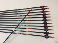 12pcs Hunting carbon arrows 3K weave spine340 ID6.2mm for compound bow shooting