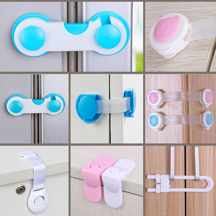 Multi-function Safety Lock Quality ABS Drawer Cabinet Door Right Angle Corner Lock Baby Kids Safety Protection Security Locks