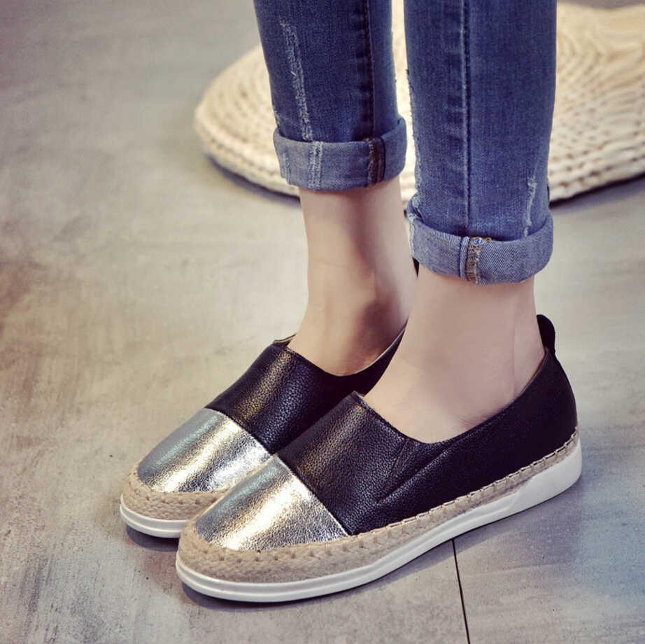 a90bcf557d2f 2018 известный бренд дизайн женские эспадрильи туфли на плоской подошве  смешанные ...